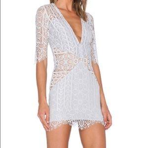 For Love & Lemons Lyla Silver dress